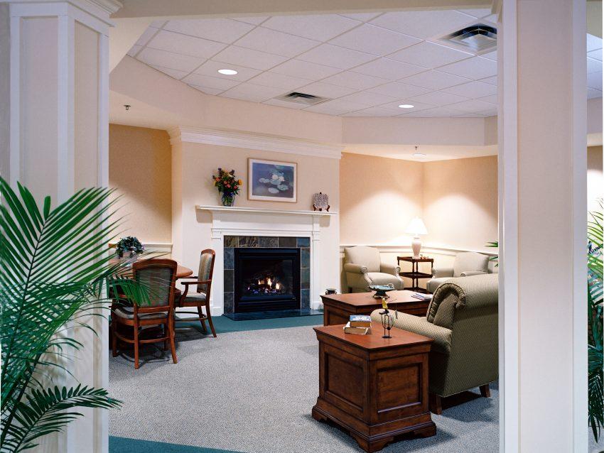 Interior photo of AlliedCook's work on the Mid-Coast Senior Health Center